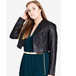 City Chic pleather bolero jacket